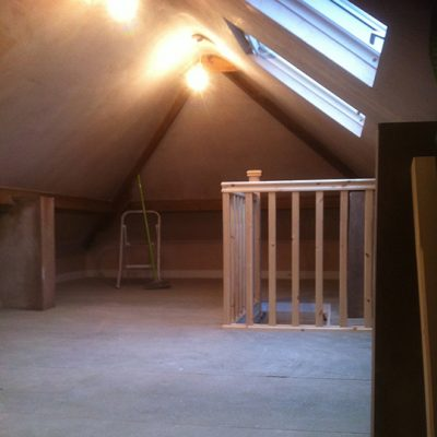 Loft flooring and Velux window
